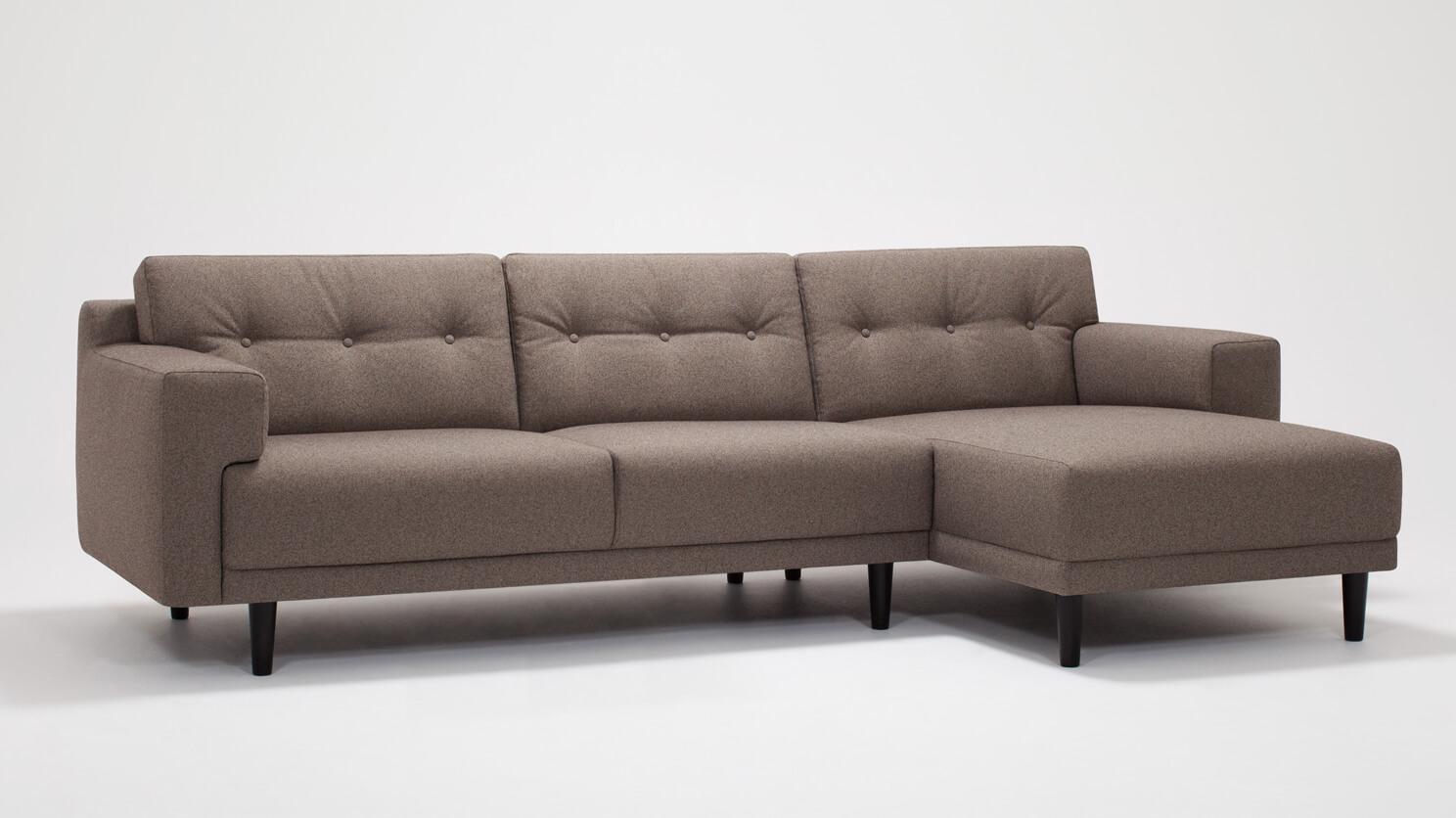 Remi 2 Piece Sectional Sofa With Chaise Fabric Eq3